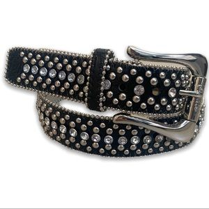 Guess Studded Big Buckle Belt